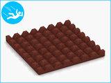 RubbertegelXL - Rubberen Speelplaatstegel - 50x50x4,5 cm - Rood - Onderkant