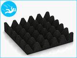 RubbertegelXL - Rubberen Speelplaatstegel - 50x50x10 cm Zwart - Onderkant