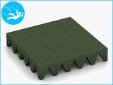 RubbertegelXL - Rubberen Speelplaatstegel - 50x50x10 cm Groen - Bovenkant