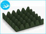 RubbertegelXL - Rubberen Speelplaatstegel - 50x50x10 cm Groen - Onderkant