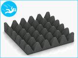 RubbertegelXL - Rubberen Speelplaatstegel - 50x50x10 cm Grijs - Onderkant