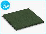RubbertegelXL - Rubberen Speelplaatstegel - 50x50x4 cm Groen - met Pen/Gatverbinding - Bovenkant