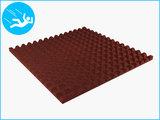 RubbertegelXL - Rubberen Speelplaatstegel - 100x100x4 cm Rood - Onderkant
