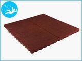 RubbertegelXL - Rubberen Speelplaatstegel - 100x100x5 cm Rood - Bovenkant