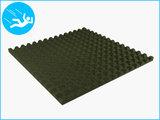 RubbertegelXL - Rubberen Speelplaatstegel - 100x100x5 cm Groen - Onderkant