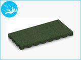 RubbertegelXL - Rubberen Speelplaatstegel - 50x25x4 cm Groen - Bovenkant