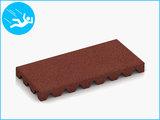 RubbertegelXL - Rubberen Speelplaatstegel - 50x25x5 cm Rood - Bovenkant