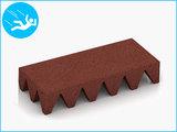 RubbertegelXL - Rubberen Speelplaatstegel - 50x25x10 cm Rood - Bovenkant