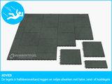 RubbertegelXL - Rubberen Speelplaatstegel - 50x25x10 cm Grijs - Bovenkant - Legverband Advies