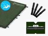 RubbertegelXL - Rubberen Speelplaatstegel - 50x25x3 cm Groen - met Pen/Gatverbinding - de Pen/Gatverbinding