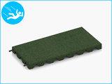 RubbertegelXL - Rubberen Speelplaatstegel - 50x25x4 cm Groen - met Pen/Gatverbinding - Bovenkant