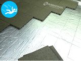 RubbertegelXL - Rubberen Speelplaatstegel - 50x25x4 cm Groen - met Pen/Gatverbinding - Voorbeeld