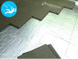 RubbertegelXL - Rubberen Speelplaatstegel - 50x50x4 cm Groen - met Pen/Gatverbinding - Voorbeeld