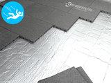 RubbertegelXL - Rubberen Speelplaatstegel - 50x50x4 cm Grijs - met Pen/Gatverbinding - Voorbeeld