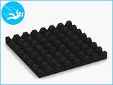 RubbertegelXL - Rubberen Speelplaatstegel - 50x50x5 cm Zwart - Onderkant