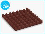 RubbertegelXL - Rubberen Speelplaatstegel - 50x50x5 cm Rood - Onderkant