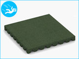 RubbertegelXL - Rubberen Speelplaatstegel - 50x50x5 cm Groen - Bovenkant