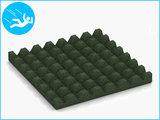 RubbertegelXL - Rubberen Speelplaatstegel - 50x50x5 cm Groen - Onderkant