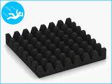 RubbertegelXL - Rubberen Speelplaatstegel - 50x50x6,5 cm Zwart - Onderkant