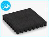 RubbertegelXL - Rubberen Speelplaatstegel - 50x50x6,5 cm Zwart - Bovenkant