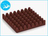 RubbertegelXL - Rubberen Speelplaatstegel - 50x50x6,5 cm - Rood - Onderkant