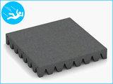RubbertegelXL - Rubberen Speelplaatstegel - 50x50x6,5 cm Grijs - Bovenkant