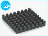 RubbertegelXL - Rubberen Speelplaatstegel - 50x50x6,5 cm Grijs - Onderkant