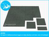 RubbertegelXL - Rubberen Speelplaatstegel - 50x50x10 cm Grijs - Advies