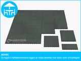 RubbertegelXL - Rubberen Terrastegel - 50x50x3 cm Grijs - Advies