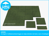 RubbertegelXL - Rubberen Terrastegel - 50x50x3 cm Groen - met Pen/Gatverbinding - Advies