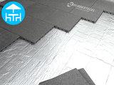 RubbertegelXL - Rubberen Terrastegel - 50x50x3 cm Grijs - met Pen/Gatverbinding - Voorbeeld