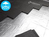 RubbertegelXL - Rubberen Terrastegel - 50x50x4 cm Zwart - met Pen/Gatverbinding - Voorbeeld