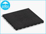 RubbertegelXL - Rubberen Terrastegel - 50x50x4 cm Zwart - met Pen/Gatverbinding - Bovenkant