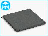 RubbertegelXL - Rubberen Terrastegel - 50x50x4 cm - Grijs - met Pen/Gatverbinding - Bovenkant