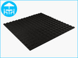 RubbertegelXL - Rubberen Terrastegel - 100x100x3 cm Zwart - Onderkant