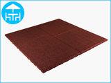 RubbertegelXL - Rubberen Terrastegel - 100x100x3 cm Rood - Bovenkant