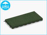 RubbertegelXL - Rubberen Terrastegel - 50x25x4 cm Groen - met Pen/Gatverbinding - Bovenkant