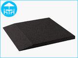 RubbertegelXL - Rubberen Terrastegel - 50x50 cm Rand Zwart - Bovenkant