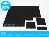 RubbertegelXL - Rubberen Terrastegel - 50x50 cm Rand Zwart - Advies