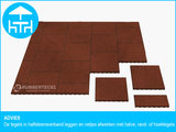 RubbertegelXL - Rubberen Terrastegel - 50x50 cm Rand Rood - Advies