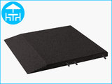 RubbertegelXL - Rubberen Terrastegel - 50x50 cm Rand Zwart - met Pen/Gatverbinding - Bovenkant