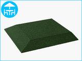 RubbertegelXL - Rubberen Terrastegel - 50x50 cm Hoek Groen - Bovenkant