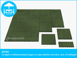 RubbertegelXL - Rubberen Terrastegel - 50x50 cm Hoek Groen - Advies