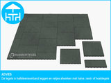 RubbertegelXL - Rubberen Terrastegel - 50x50 cm Hoek Grijs - Advies