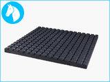 RubbertegelXL - Rubberen Stalmat - 100x100x4 cm Zwart - Onderkant