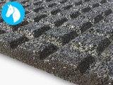 RubbertegelXL - Rubberen Stalmat - 100x100x4 cm Zwart - Detail onderkant