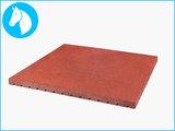RubbertegelXL - Rubberen Stalmat - 100x100x4 cm Rood - Bovenkant