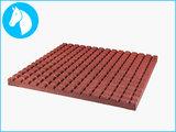 RubbertegelXL - Rubberen Stalmat - 100x100x4 cm Rood - Onderkant
