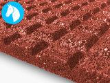 RubbertegelXL - Rubberen Stalmat - 100x100x4 cm Rood - Detail Onderkant