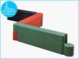 RubbertegelXL - Rubberen Zandbakprofiel - 100x30x15 cm Rood - Gekoppeld